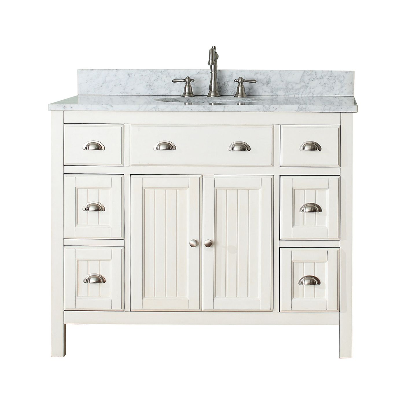 Avanity Hamilton Vs42 Fw Hamilton 42 In Bathroom Vanity Combo Vanity Combos Single Bathroom Vanity 42 Inch Vanity