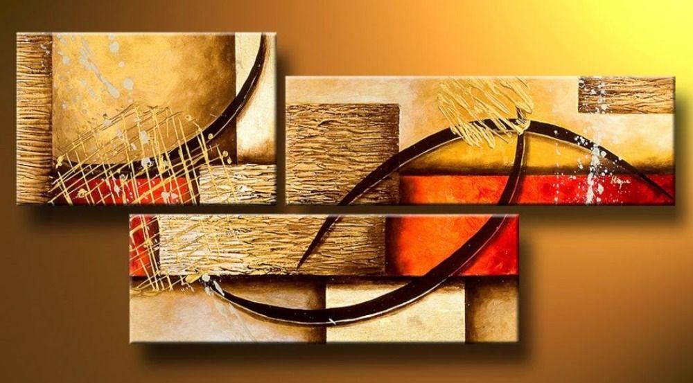 Multi stuk 3 panel muur abstracte schilderijen modern olieverfschilderij decoratie woonkamer for Decoratie stuk om te leven