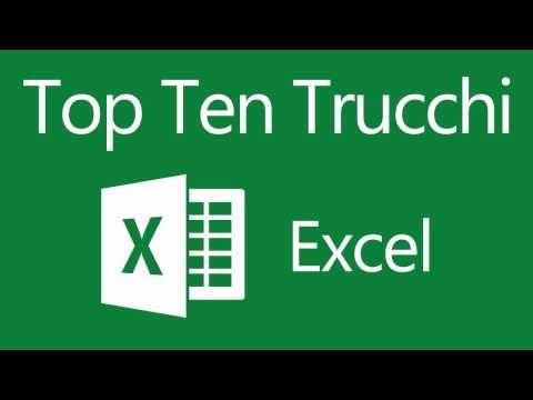 Top Ten - Trucchi Excel - YouTube Excel Pinterest Top ten and Pdf