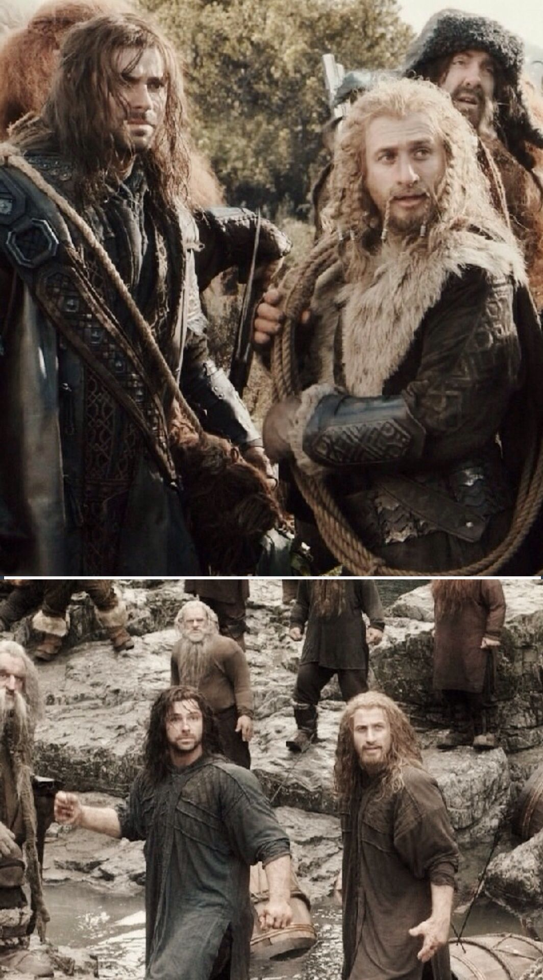 The look of complete and utter shock on kili's face when bard shoots the knife (or stick couldn't really tell)  out if his had was hilarious XD