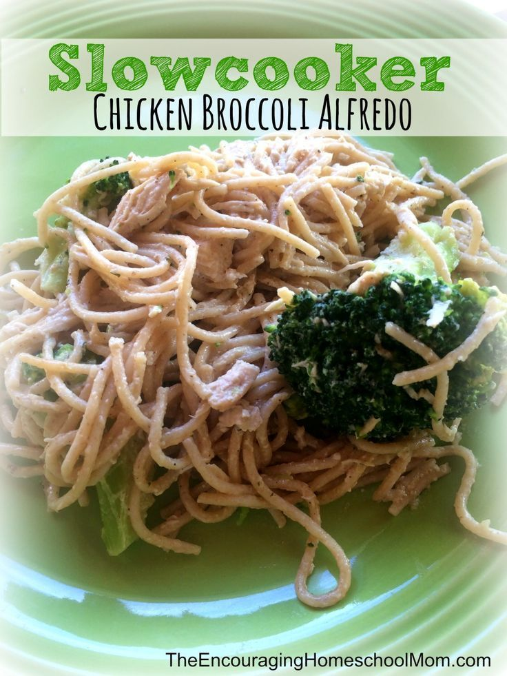 Chicken Broccoli Alfredo Recipe {+ a Trim Healthy Mama Twist} Slow cooker Chicken Broccoli Alfredo Recipe that is so good!  This Alfredo meal makes a tasty quick weeknight meal.  Broccoli is very healthy and is perfect with chicken, pasta, and Alfredo sauce! Slow cooker Chicken Broccoli Alfredo Recipe that...