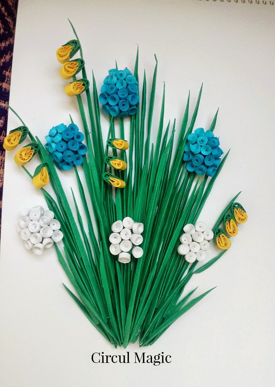 Quilling Tablou Muscari Si Frezii Quilling Work Quilling Designs Paper Quilling Designs