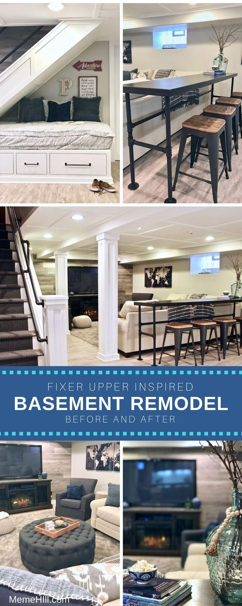 Basement_renovation_meme_hill_fixer_upper_remodel_rustic Basement Family  Rooms, Basement Ideas, Rustic Basement, Basement Apartment, Basement  Inspiration