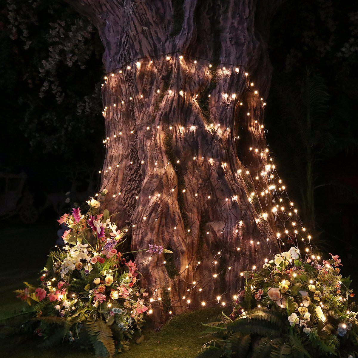 yunlights led net lights 98ft x 66ft 330 leds mesh fairy lights for new