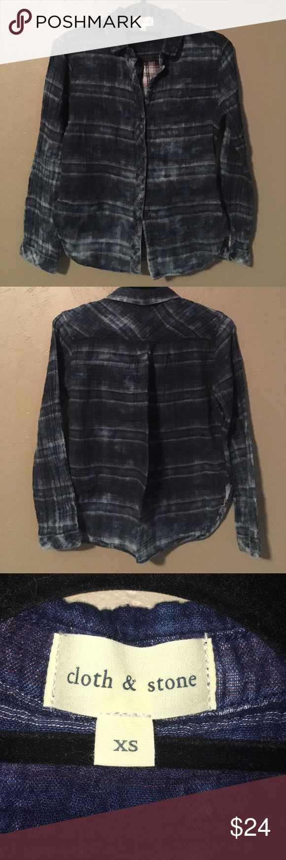 Flannel shirt xs  Anthropologie cloth u stone Flannel Shirt  Flannel shirts Flannels