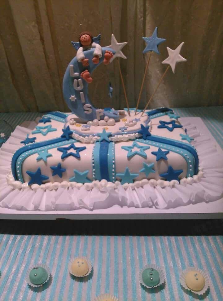 Tope de torta Angel en la Luna en Masa flexible Mis trabajos