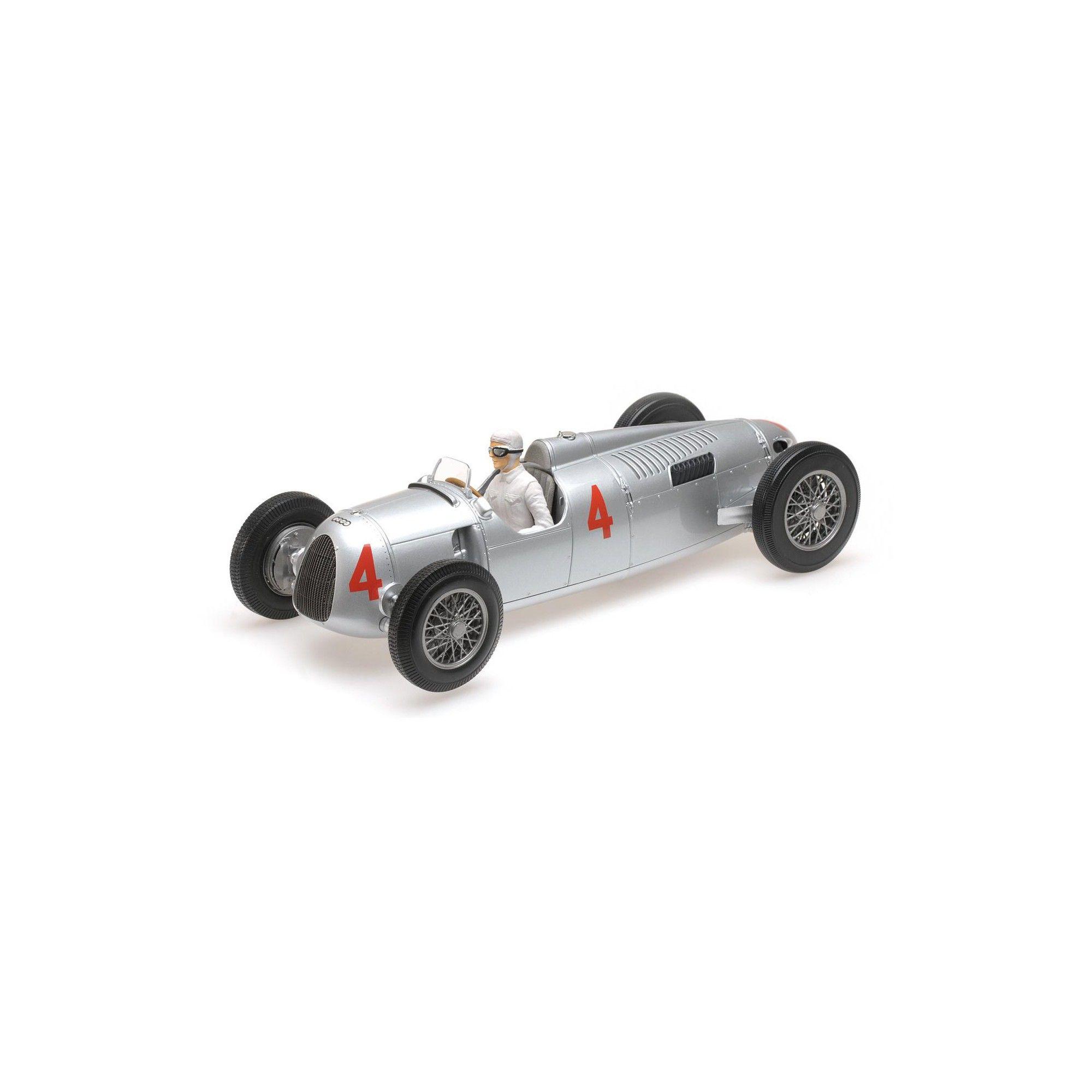 Auto Union Type C 1936 Automobile de Monaco GP 2nd Place Achille Varzi  4  Ltd to 504pcs w figure 1 18 Diecast Minichamps 7d175456018