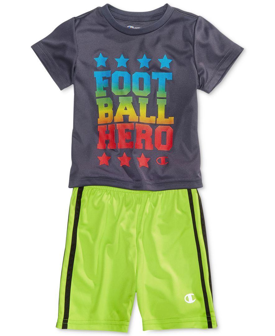 Champion 2 Pc Football Hero T Shirt Shorts Set Baby Boys 0 24