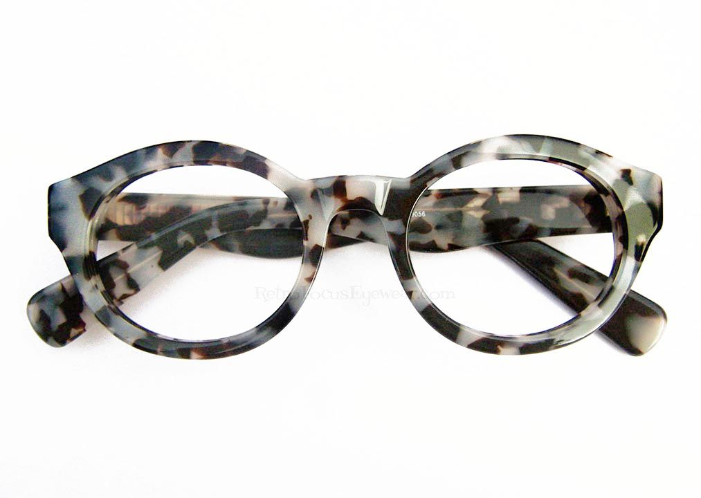 c4aaa972af A somewhat flattened round chunky thick frame in 50 something shades of  grey leopard tortoise with wayfarer styled temples. Very confident unisex  eyeglass ...