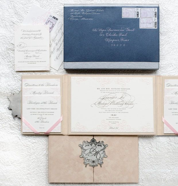 Jennifer Michael Wedding Invitations Botanical Ceci