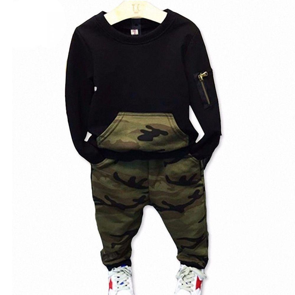 Boy's Camouflage Printed Clothing Set Boy's Camouflage Printed Clothing Set  Price: 19.40 & FREE Shipping