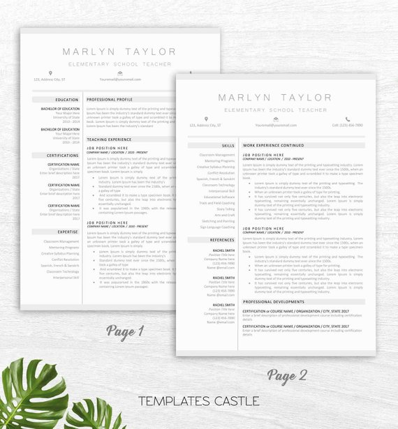 Resume Template Modern Professional Clean Creative