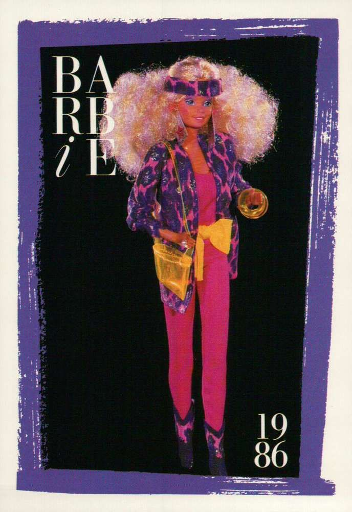 """Barbie Collectible Fashion Card  /"""" Twice As Nice Reversible Fashions /""""  1986"""