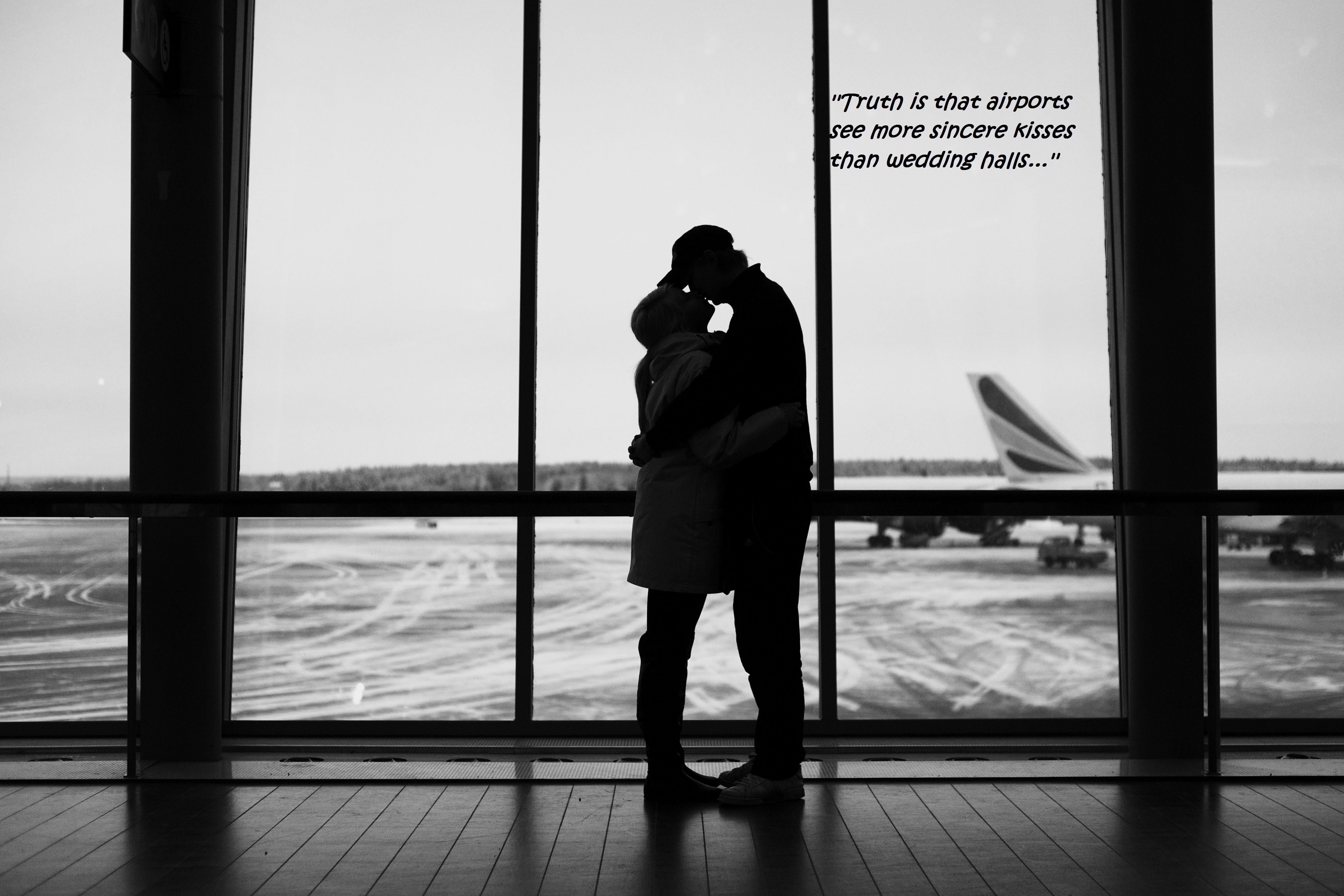 Image result for romantic airport farewell images