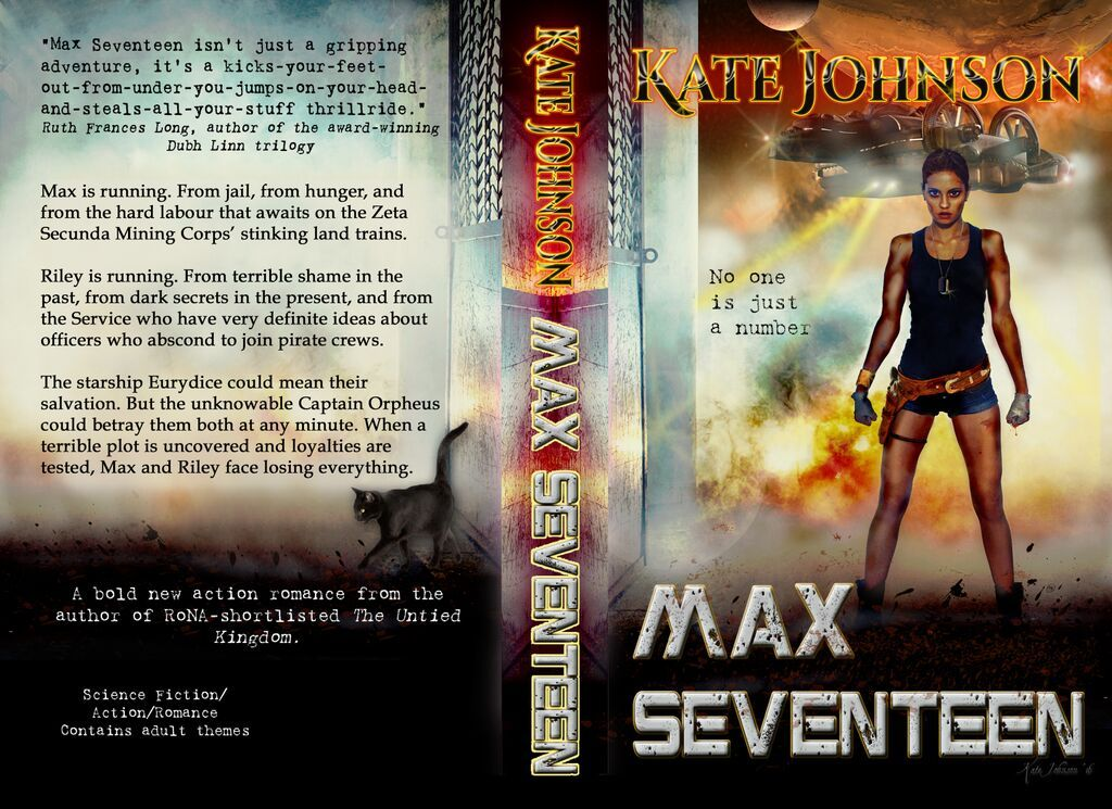 Max Seventeen paperback. Yes, I put Cat on the back. Also an awesome cover quote from Ruth Long!