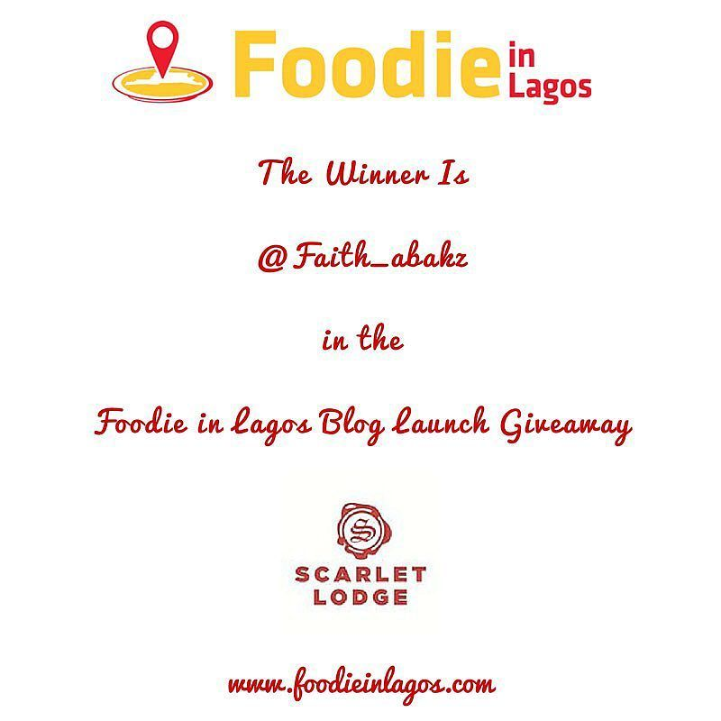 End of Day 5 #FILGiveaway!  Using a random picker tool today's winner is @faith_abakz  Congratulations!!!! Please DM your full name email address and phone number  to get details of how to get your brunch from Scarlet lodge!  Thank you @scarletlodge for being a part of the Foodie in Lagos Blog Launch Giveaway!  Thanks everyone for participating!! More Giveaways tomorrow simply follow the rules closely wink  #FILGiveaway #FoodieinLagos