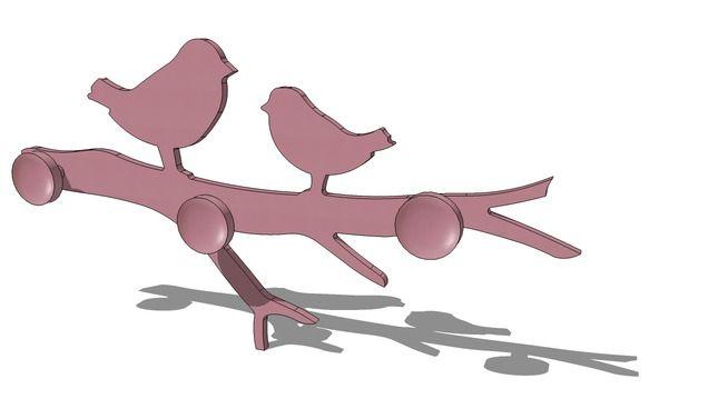 patre oiseaux rose violette maisons du monde ref 143192 prix 999