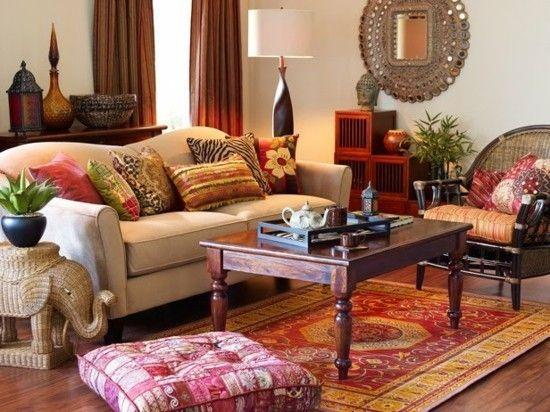 50 Einrichtungsideen im Indian Style für ein farbenfrohes, exotisches Zuhause #indischeswohnzimmer wohnzimmer indischer stil einrichtungsideen #indischeswohnzimmer