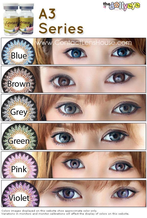 A3 Series coloured cosmetic contact lens in 2020