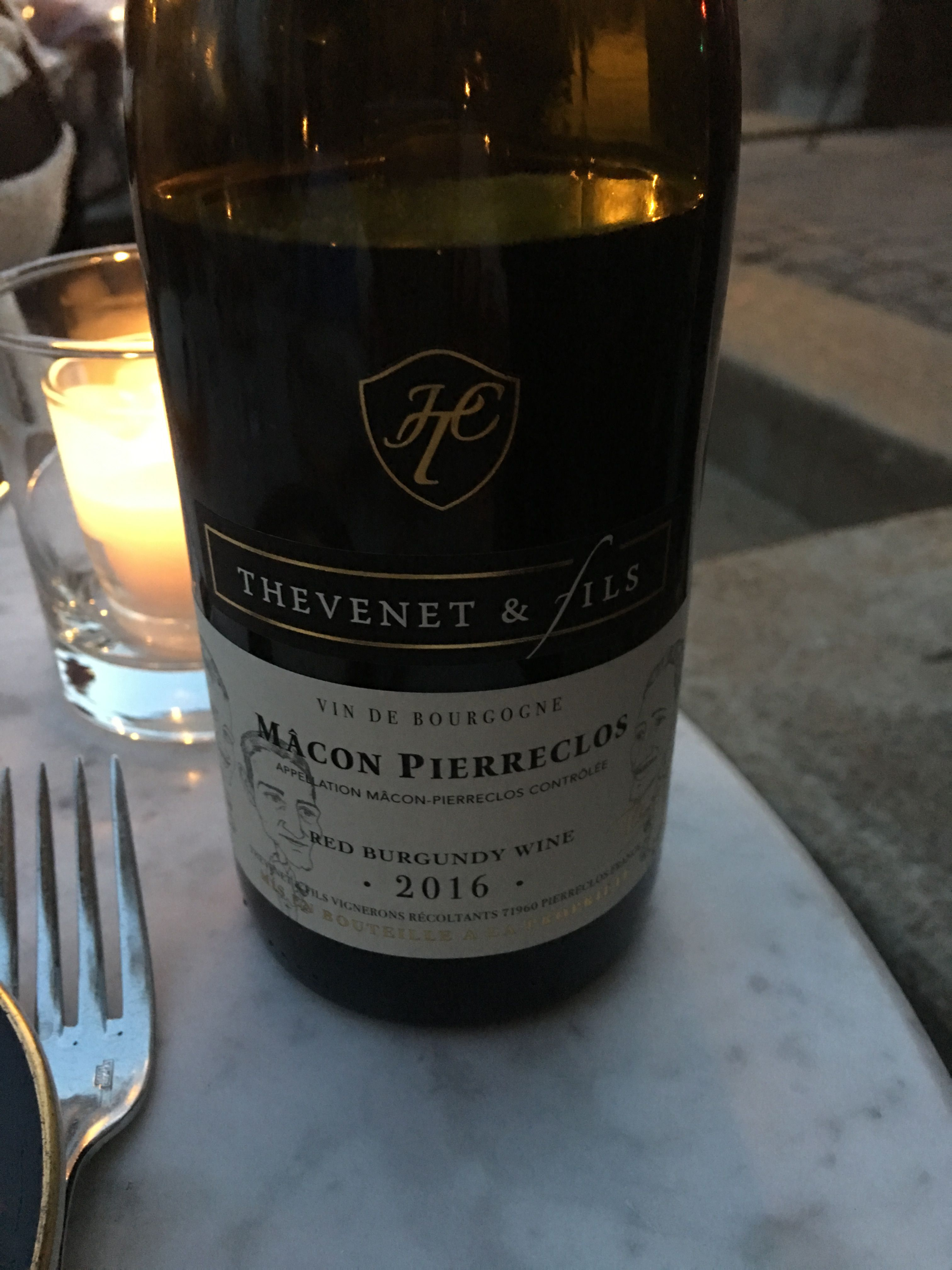 French pinot noir from st louis french restaurant 2016
