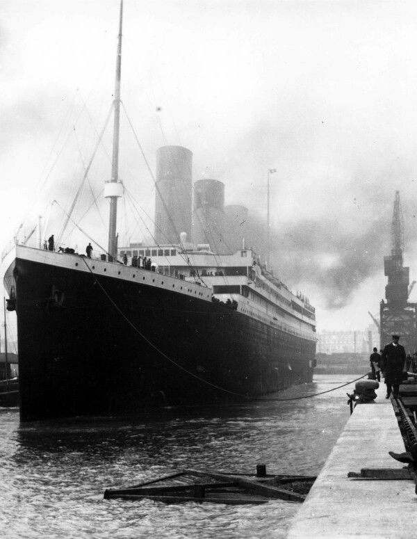 The Titanic, in all her beautiful but doomed glory