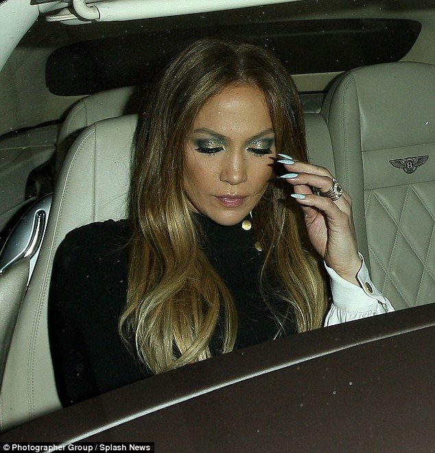 Jennifer Lopez wears mini-dress and thigh-high boots to dinner ...