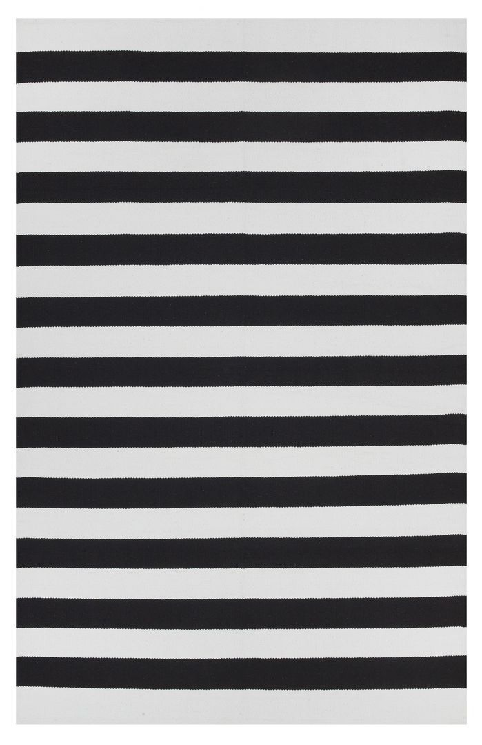 Abigail Rug White Area Rug Striped Rug Cotton Area Rug