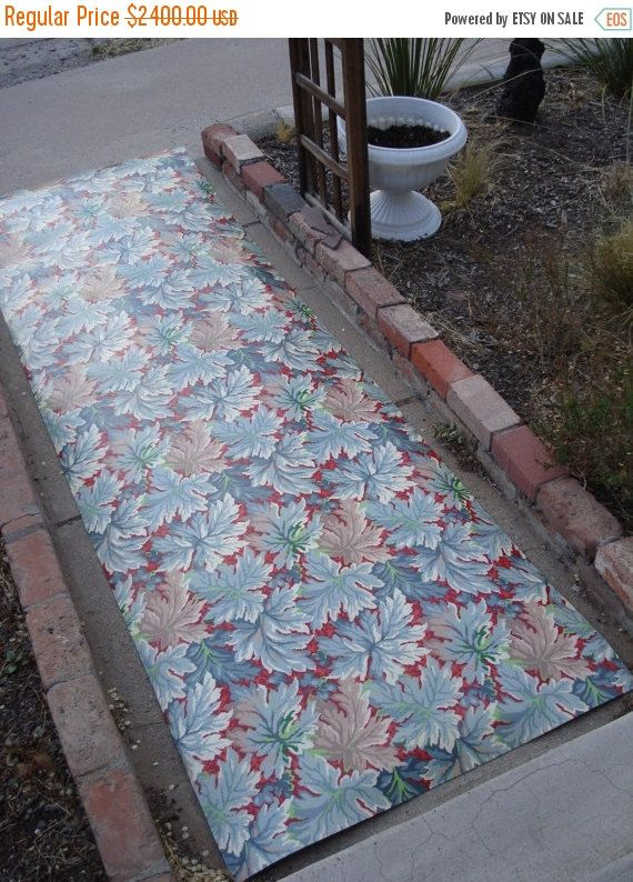 On sale vintage 1940s linoleum floor carpet mid by for Linoleum flooring for sale