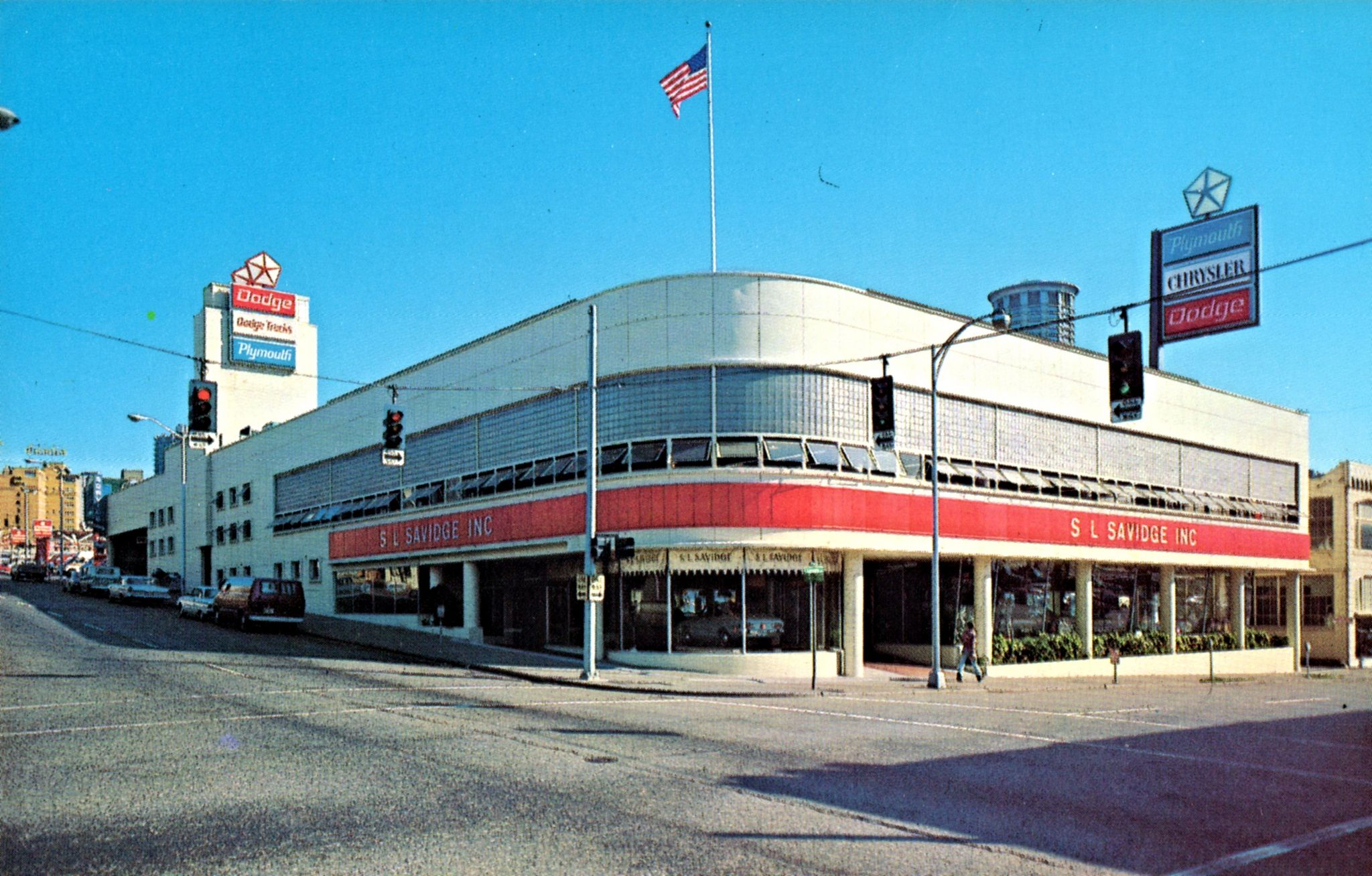 1960 S S L Savidge Inc Dodge Chrysler Plymouth Dealership Seattle Washington Ferry Building San Francisco Seattle Car Dealership