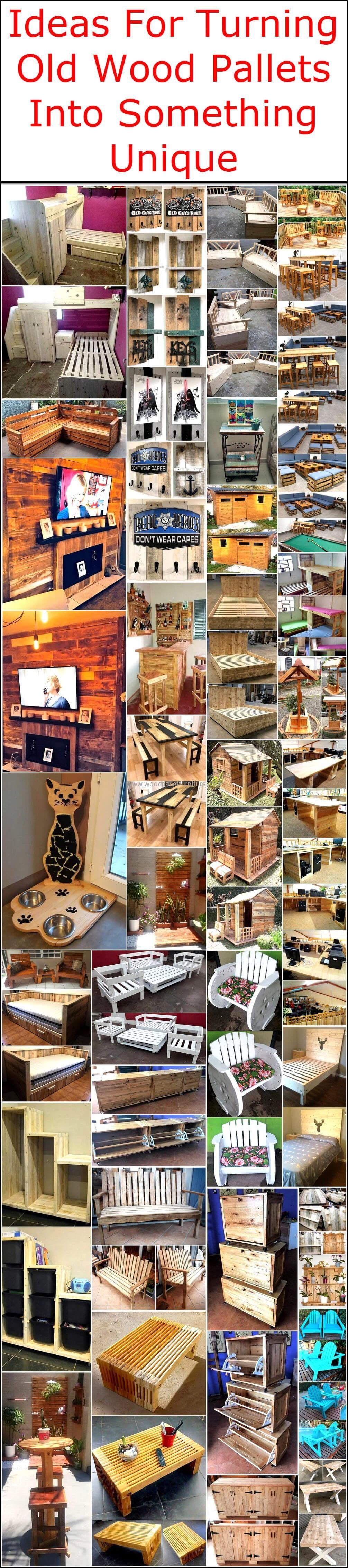Let's retransform the beauty of our places by turning the old wooden pallets into something stunning and unique for them. These fascinating and stylish recycled wooden pallet ideas are best to create for every home, not only for decoration purposes but also for refurbishing your home with a newly created wooden product in an economical way. #woodenpalletfurniture #oldpalletsforcrafting
