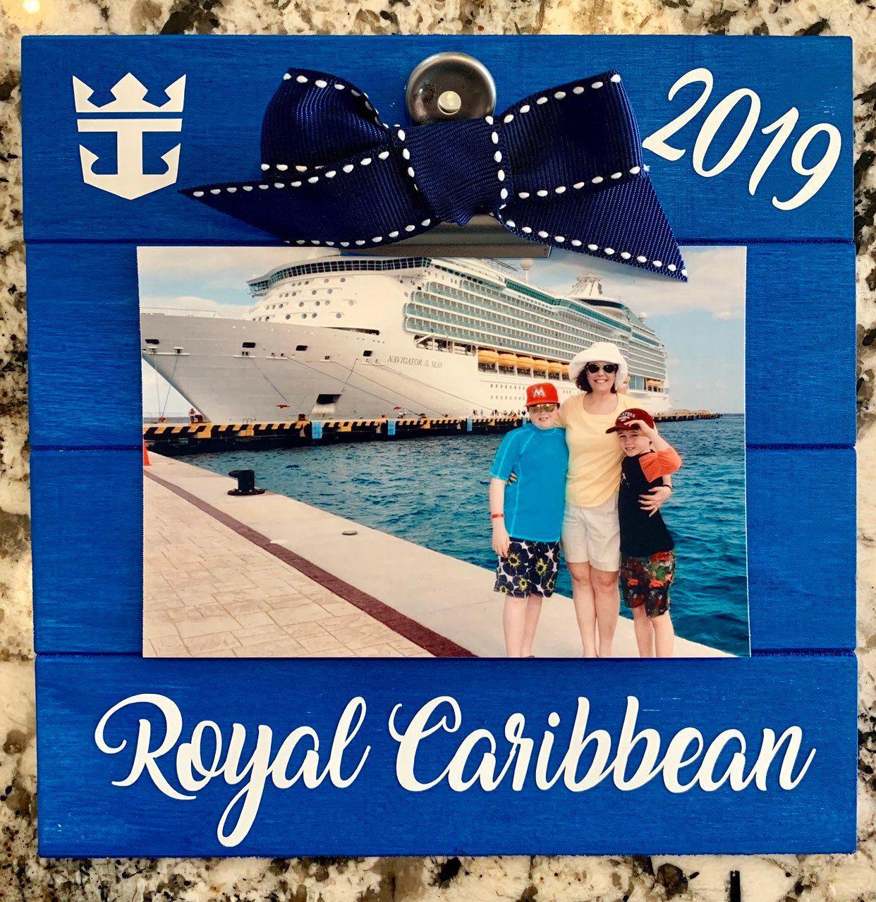 Royal Caribbean Cruise Frame Wood Frame Hand Painted In Ocean Blue Royal Caribbean Cruise Royal Caribbean Cruise Ship Caribbean Cruise