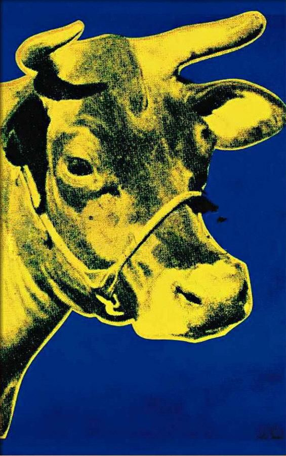 Andy Warhol S Yellow And Blue Pop Art Pinterest