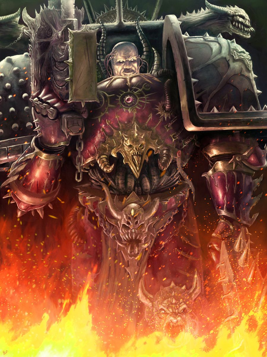 warhammer-fan-art: Chaos Marines by cervayrus theryuog and ...