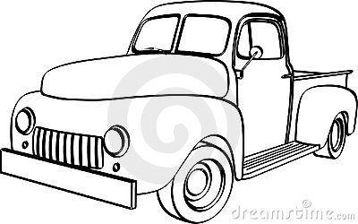 Vintage Pick Up Truck Stock Illustrations 102 Vintage Pick Up Truck Coloring Pages Vintage Truck Old Pickup