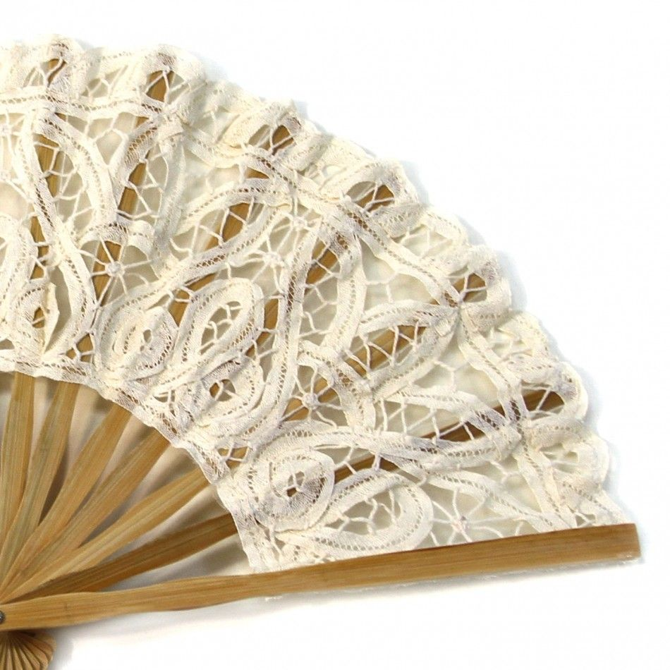 Antique Victorian Lace Hand Fan - Ivory [Buy Ivory Lace Fans ...