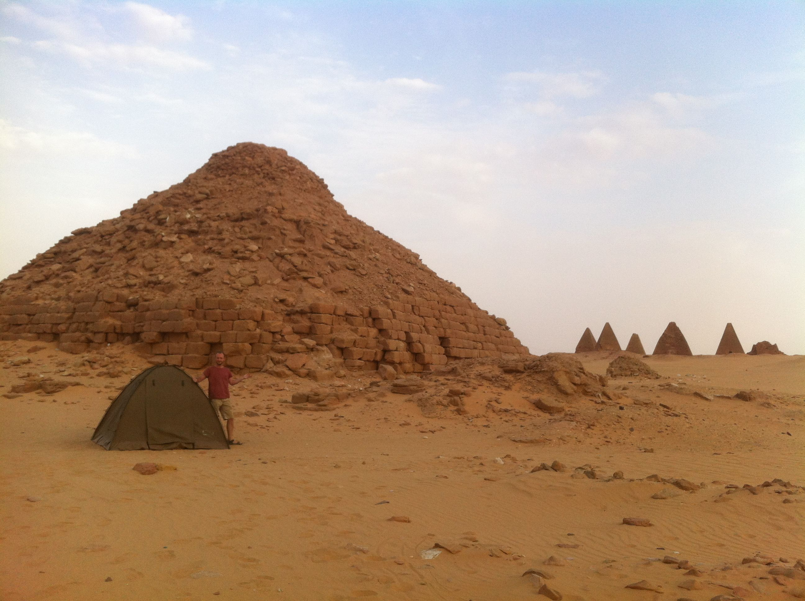 Camping by the pyramids in Sudan  http://www.fortuneglorykid.com/sudan-camping-in-the-kingdom-of-kush/