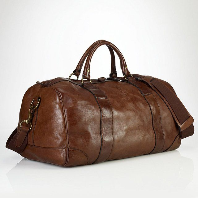 Leather Gym Bag by Polo Ralph Lauren | pick up! | Pinterest | Polo ...