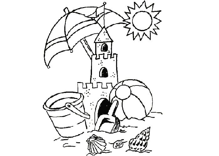 Http Www Cartoon Coloring Page Com Wp Content Uploads 2012 06 Summer Sand Castle Coloring Pages Jpg Coloring Pages Castle Coloring Page Sand Castle