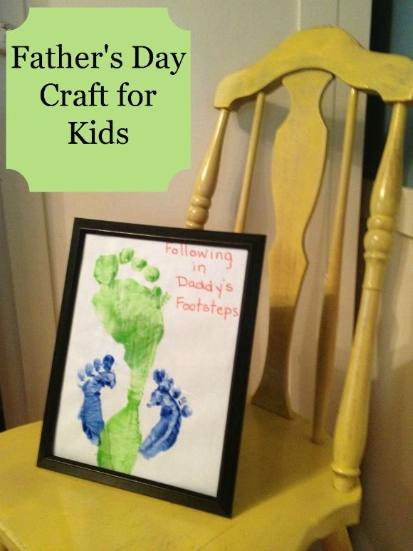 Beautiful Fathers Day Kids Craft Ideas Part - 7: Fatheru0027s Day Craft For Kids: Following In Daddyu0027s Footsteps!
