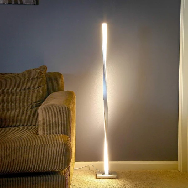 Kofi Led Twist Standing Lamp With Images Bright Floor Lamp