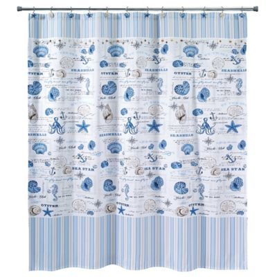 Avanti Island View 72 X 84 Shower Curtain Multi Bath