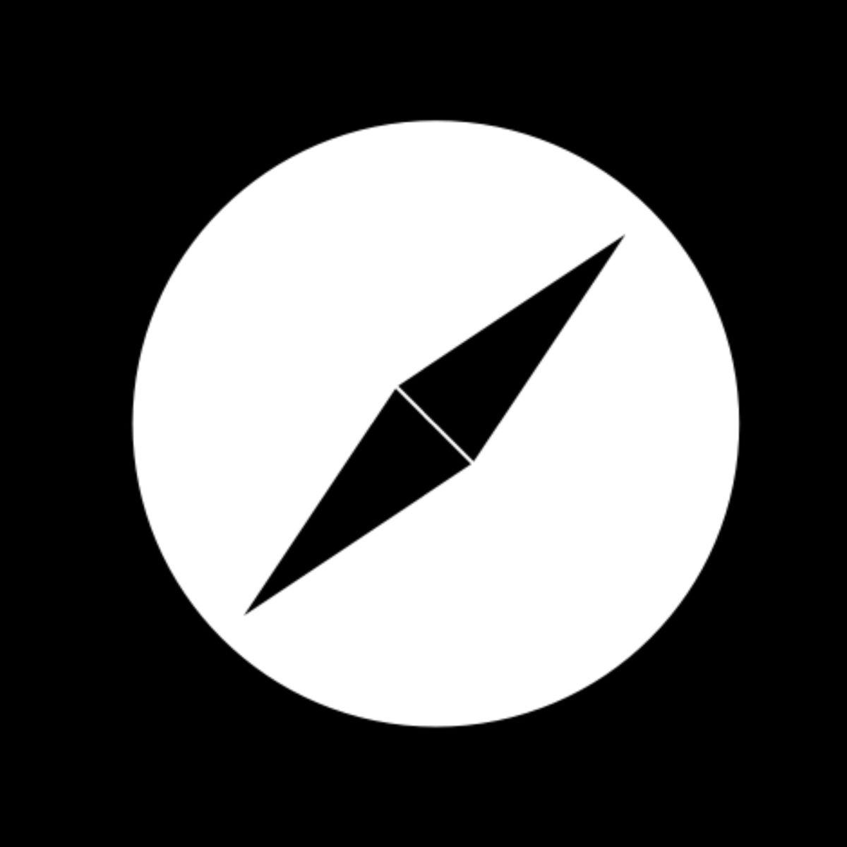 Safari Black White Logo App Icon Ios Icon Apple Icon
