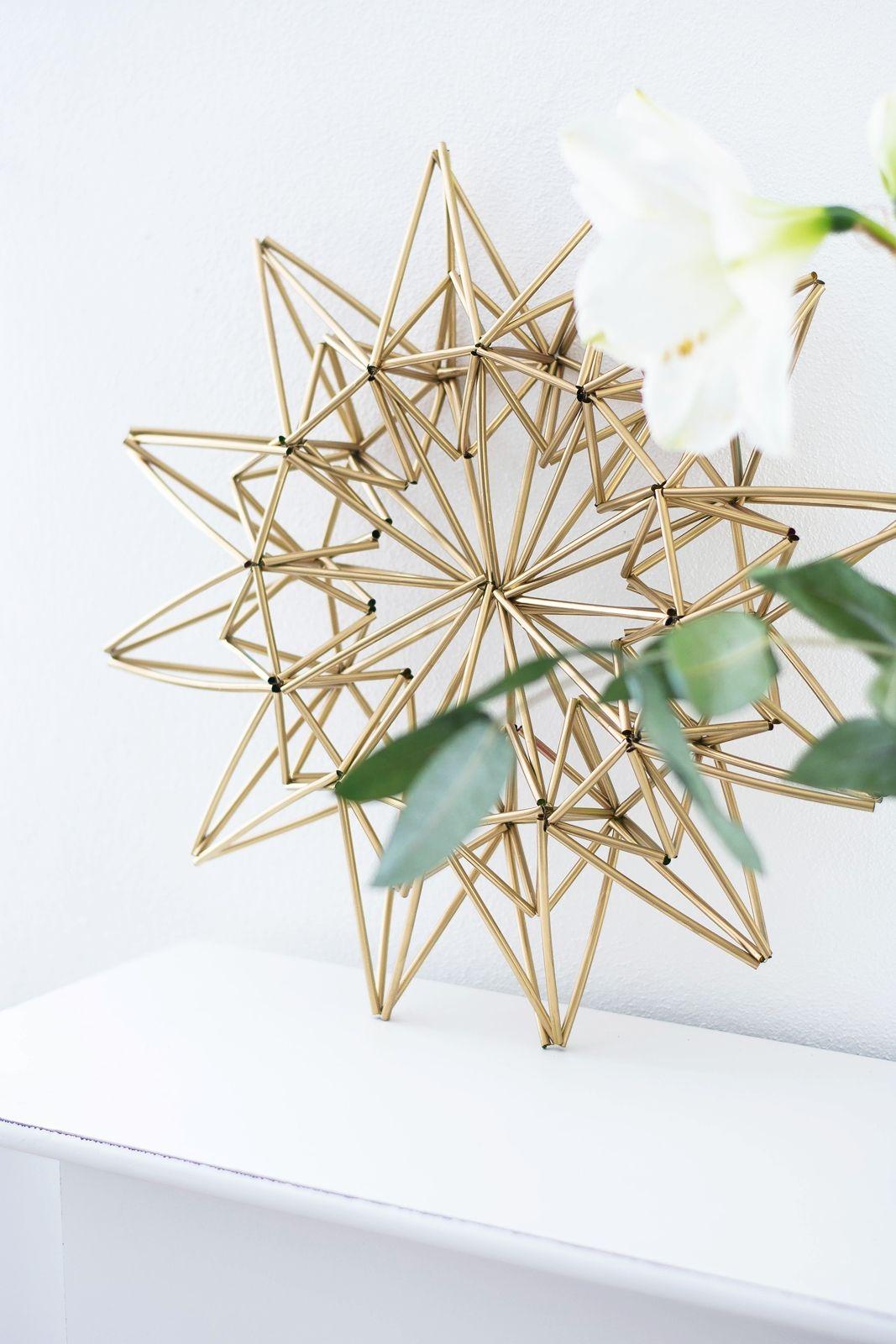 diy weihnachtsstern aus trinkhalmen weihnachtssterne. Black Bedroom Furniture Sets. Home Design Ideas