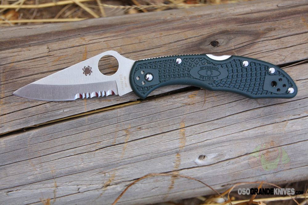 Spyderco C11PSGRE Delica, ZDP-189, Green FRN Handle, ComboEdge. This is just like the ENDURA, but a smaller, more compact version. http://www.osograndeknives.com/store/catalog/every-day-carry-folders/spyderco-c11psgre-delica-zdp-189-green-frn-handle-comboedge-5008.html