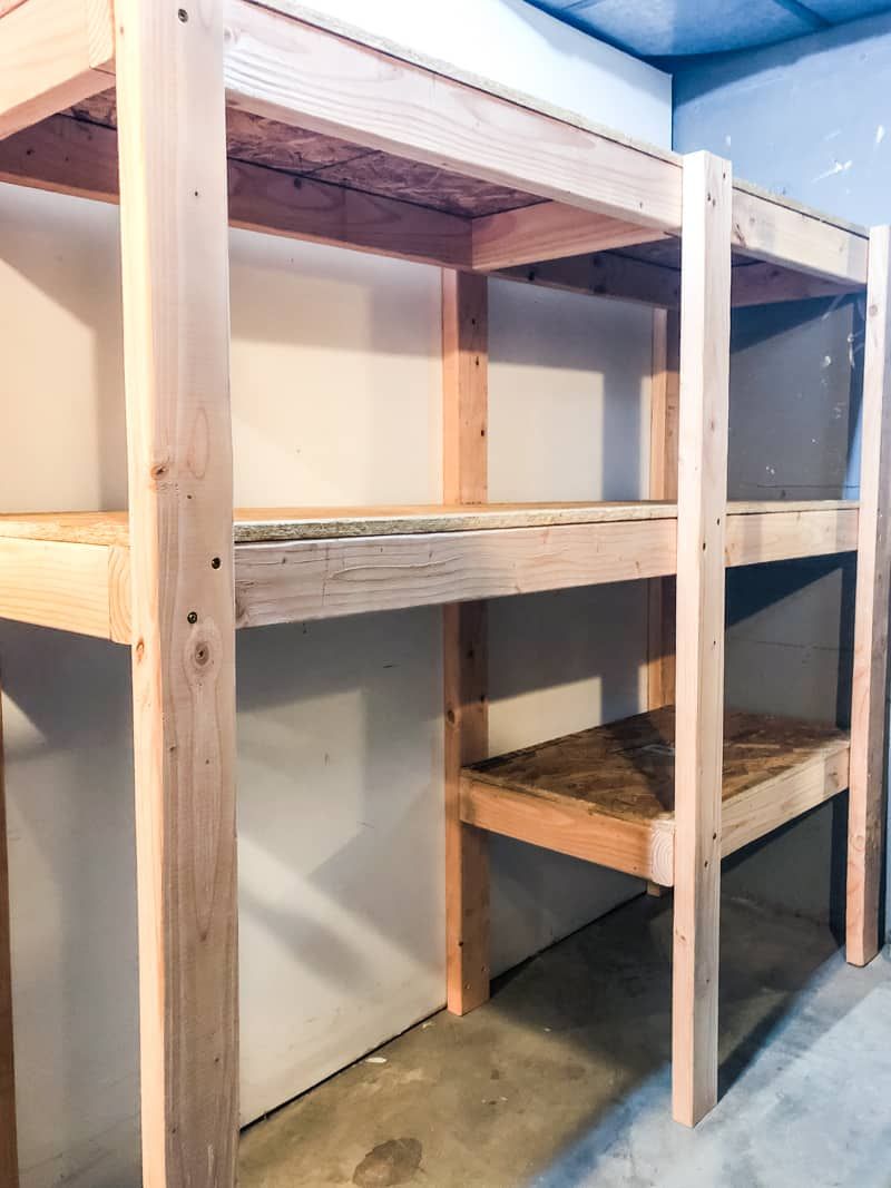 garage How To Build Garage Shelving Easy Cheap And Fast
