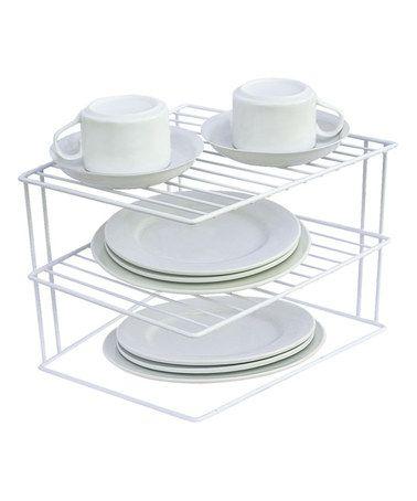 two tier rectangular corner dish shelf kitchen storage rack corner shelves kitchen cabinet organization pinterest