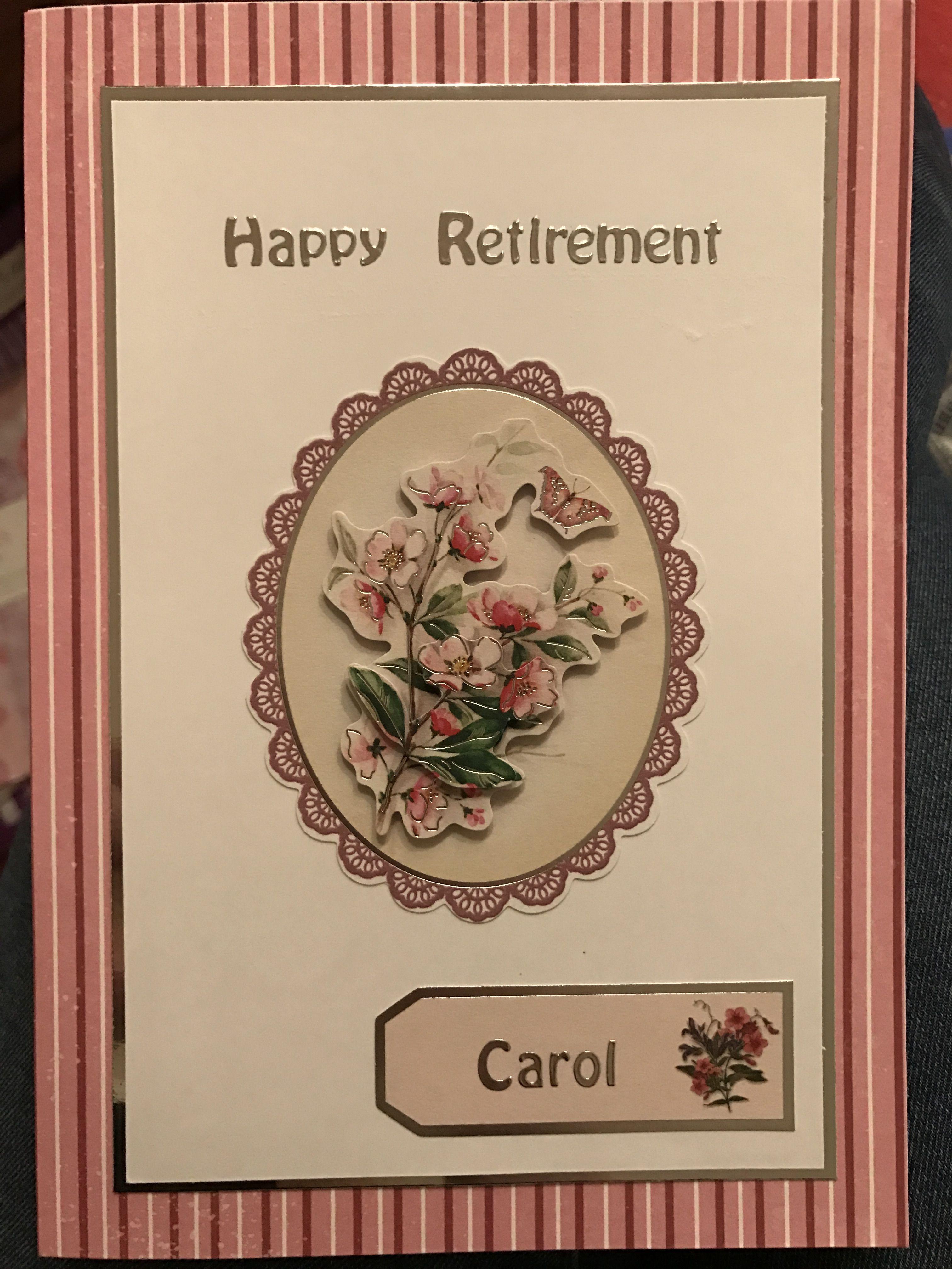 Linda's Hand Made Cards: Gentleman retirement card |Handmade Retirement Cards