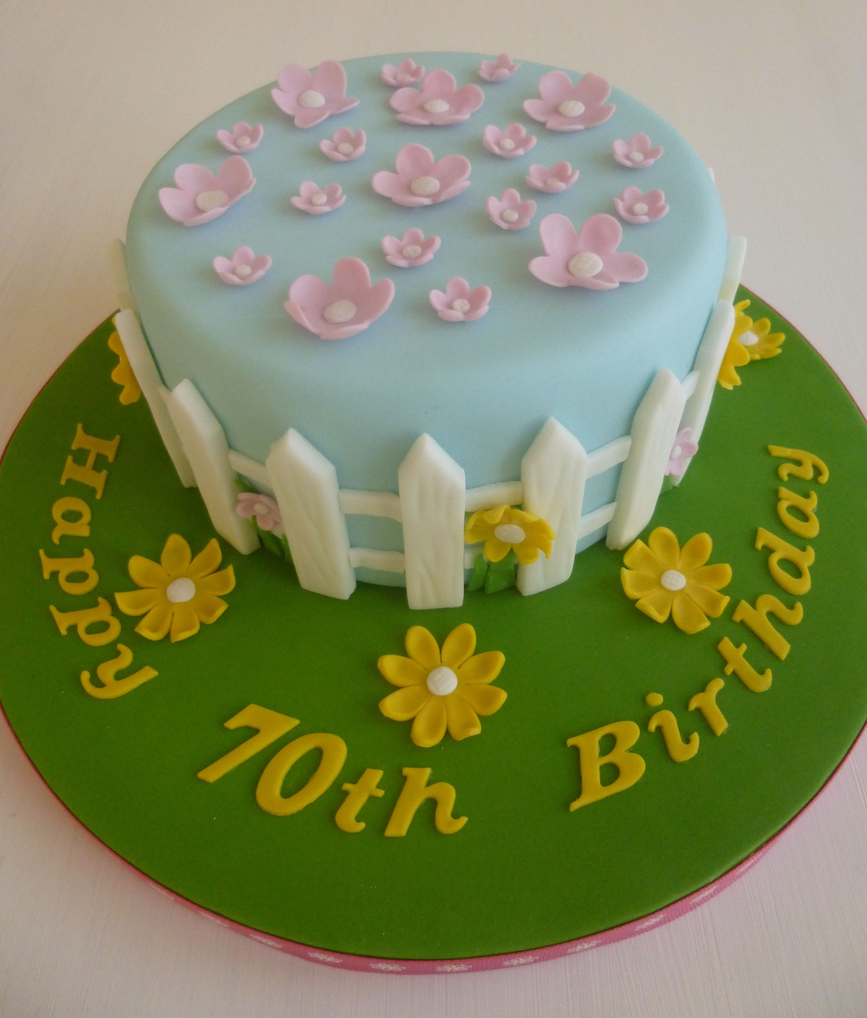 70th birthday flower garden cake. | Cake, No bake cake ...