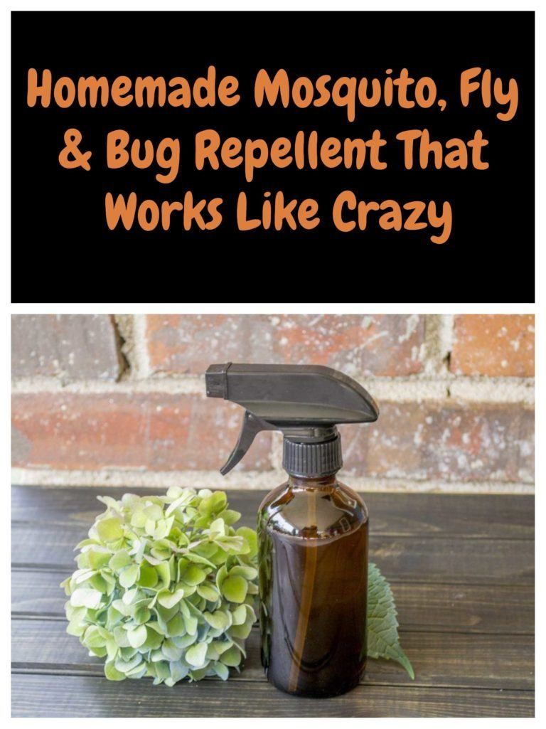 Homemade Mosquito, Fly & Bug Repellent That Works Like Crazy #mosquitoplants