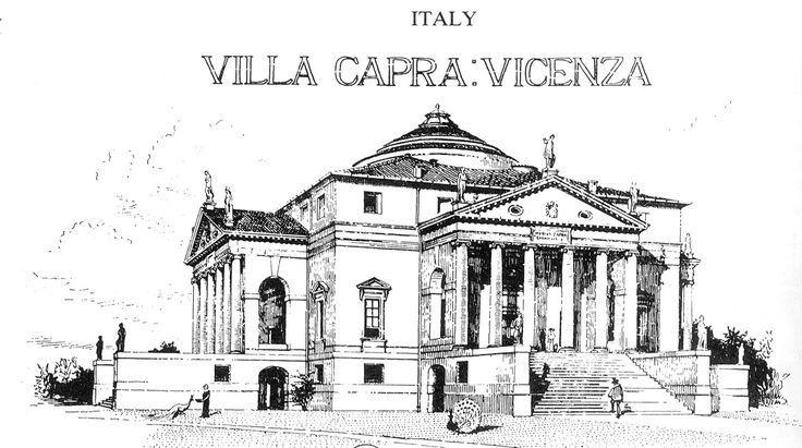 villa capra  u0026quot la rotunda u0026quot  - drawing